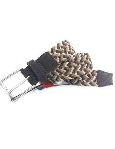 Cinturon Trenzado Combinado Marron