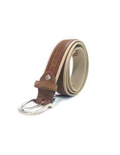 Cinturon Lona Sax Tostado Canela
