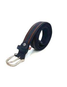 Cinturon Lona Piel Sax 35mm Marino