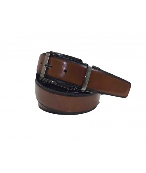 Cinturon de Piel Reversible 32mm Negro y Marron