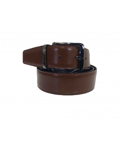 Cinturon de Piel Bellido Reversible Negro con Marron