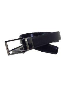 Cinturon de Piel Reversible Negro y Burdeos 35mm