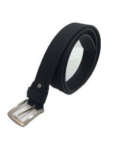 Cinturon de Cuero Liso de 35mm. Negro