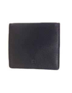 Monedero de Piel Tipo Caja en Negro Bellido