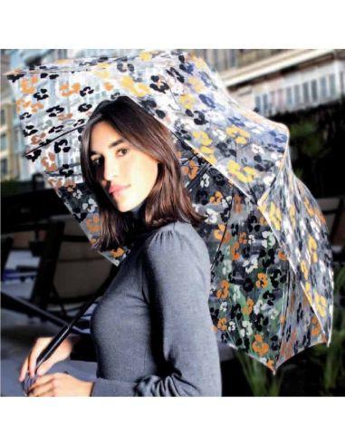 6504aa5c34d Paraguas Transparente con Serigrafía Vogue Color ROJO Talla LARGO