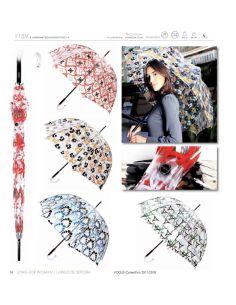 Paraguas Transparente con Serigrafía Vogue