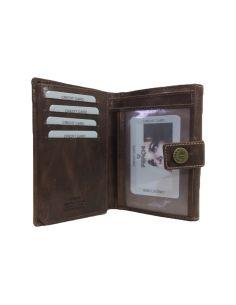 Billetera de Piel tipo Trenzada con Techas Mediana Cuero