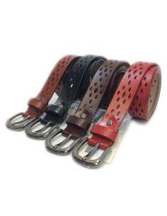 Cinturon para Mujer de Piel Caladada con Ancho de 27mm