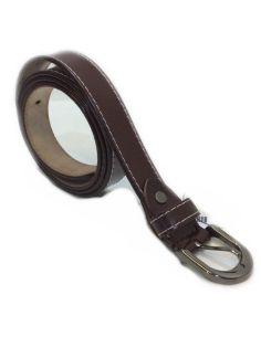 Cinturon de Piel para Mujer Liso Estrecho
