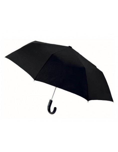 Paraguas Plegable Vogue Mango Curvo NEGRO