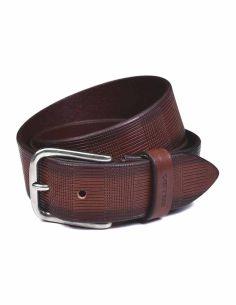 Cinturon Sport Wear Bellido Piel Grabada a Fuego Marron
