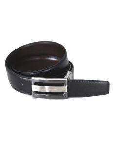 Cinturon de Piel Reversible con Hebilla de Capon