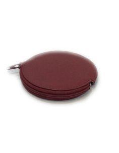 Monedero de Piel tipo Galleta en Rojo JL
