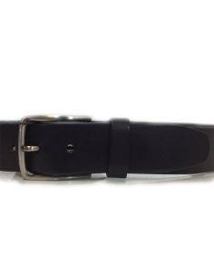 Cinturon de Cuero Liso de Bellido color Negro
