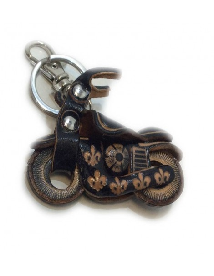 Llavero de Piel Artesanal Vehiculos Mini Moto