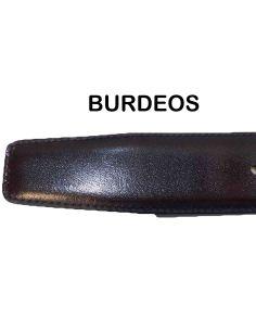 Cinturon de Piel Bellido Reversible Negro/Burdeos