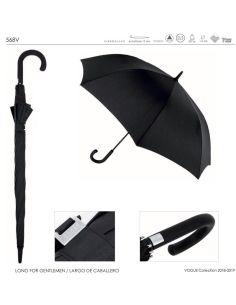 Paraguas Vogue Largo Negro Liso Automático