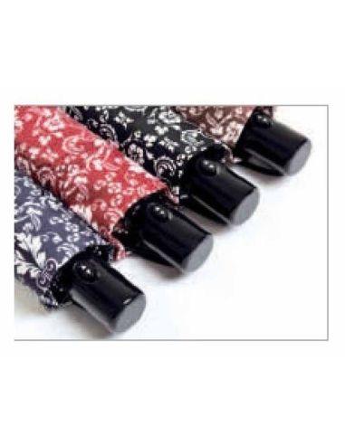 3d11e968337 Paraguas Vogue Estampado Automático de tres Secciones Color AZUL Talla CORTO