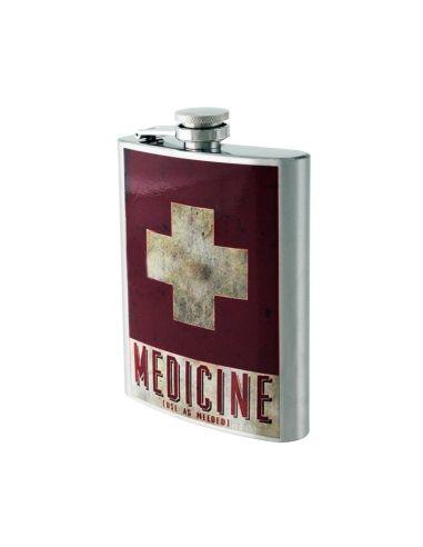 Licorera Metálica decorada Medicine 8 Oz