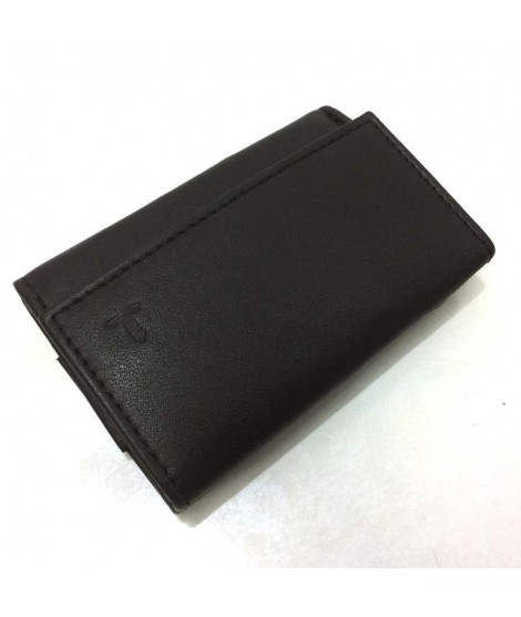 Monedero Billetero Mini de Piel JL Classic en Negro