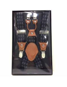 Tirantes Básicos Anchos de 35mm Rombos Negros