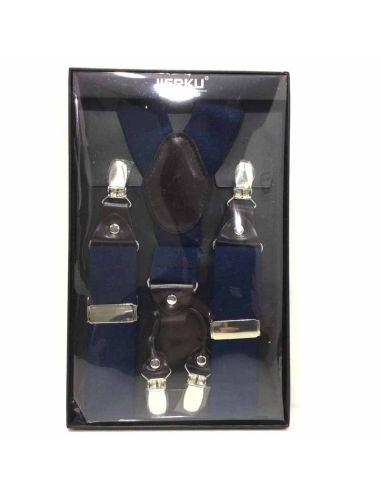 Tirantes Basicos Anchos de 35mm en Azul marino