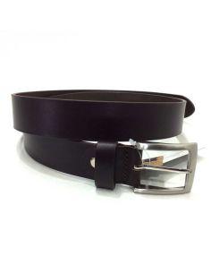Cinturon de Cuero Liso en Marron de 35mm