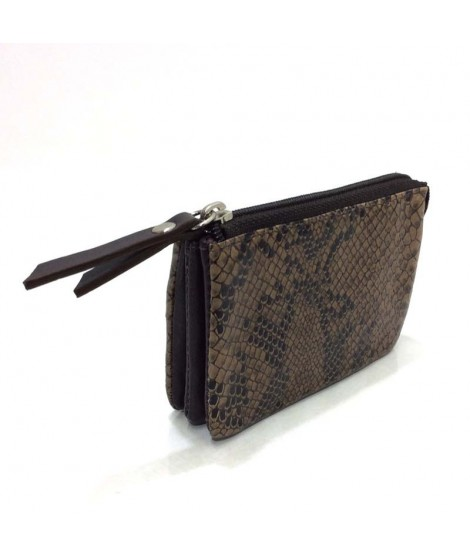 Monedero con Apartados Animal Print Rosme en Marron