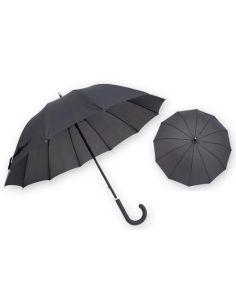 Paraguas para Hombre Largo Liso Negro Kronos