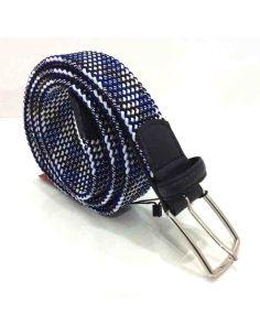 Cinturon Trenzado Elástico Birdie en tonos de Azul