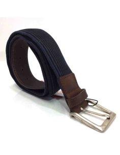 Cinturon de Lona y Piel con Cremallera para llevar el Dinero