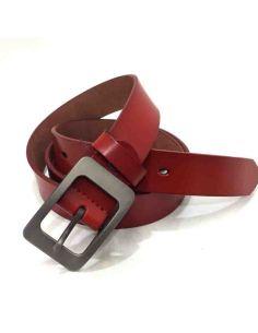 Cinturon de Piel para Mujer liso cin Hebilla tipo Cero