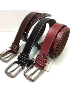 Cinturon de Cuero para Mujer Con Pesunte y Picado