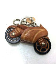 Llavero de Piel Artesanal Vehiculos Moto Carrera Cuero