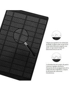 Mochila Antirrobo con USB y Cargador Solar en Negra