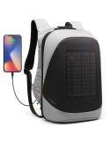 Mochila Antirrobo con USB y cargador Solar en Gris