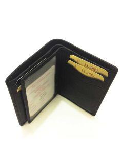 Billetera Tarjetero de JL Piel Dakota en color Negro