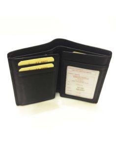 Billetera sin Monedero de Piel JL Classic en color Negro