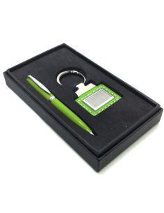 Llavero y Bolígrafo en color Verde