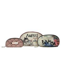 Conjunto de tres Neceseres Anekke Couture Beige