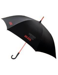 Paraguas Vogue Poliester Shiny Negro Letras Rojas