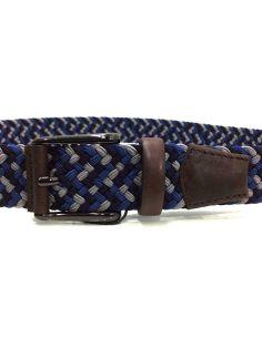 Cinturon Trenzado para Hombre Dalvi Combi Azul