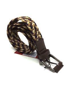 Cinturon Trenzado para Hombre Dalvi Combi Marron