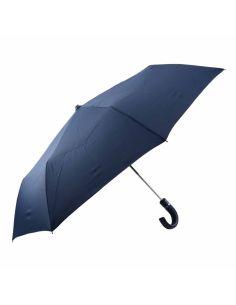 Paraguas para Hombre Plegable Automático Mango de Piel