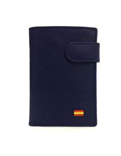 Billetera de Piel España con Monedero de Rosme en Azul