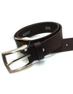 Cinturon de Cuero liso en Color Marron de 40mm.