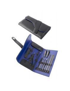 Estuche de Manicura con quince Accesorios Interior Azul New