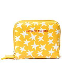 Monedero de Agatha Ruiz de la Prada Estrella fondo Amarrillo