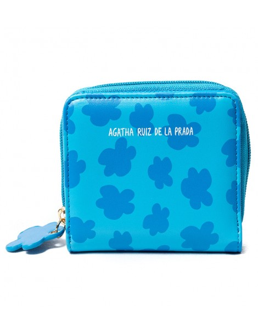 Monedero de Agatha Ruiz de la Prada Nube fondo Azul