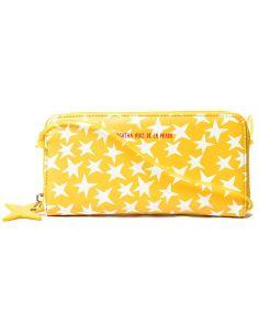 Billetera Grande de Agatha Ruiz de la Prada Estrella fondo Amarillo